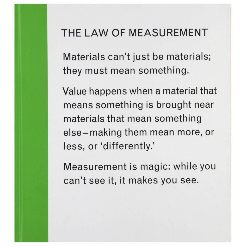 Isabelle Pauwells The Law of Measurement exhibition publication