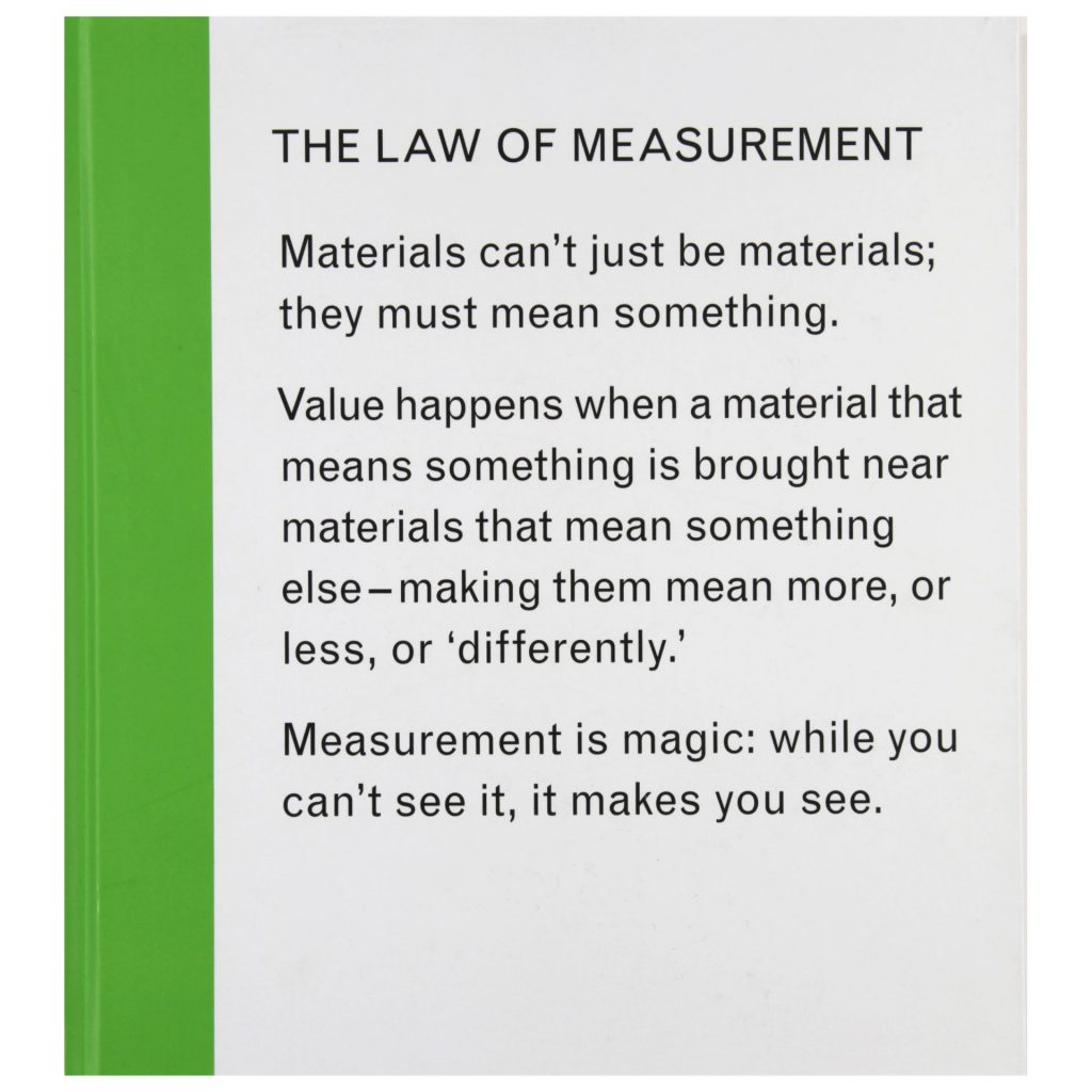 Isabelle Pauwells The Law of Measurement exhibition publication