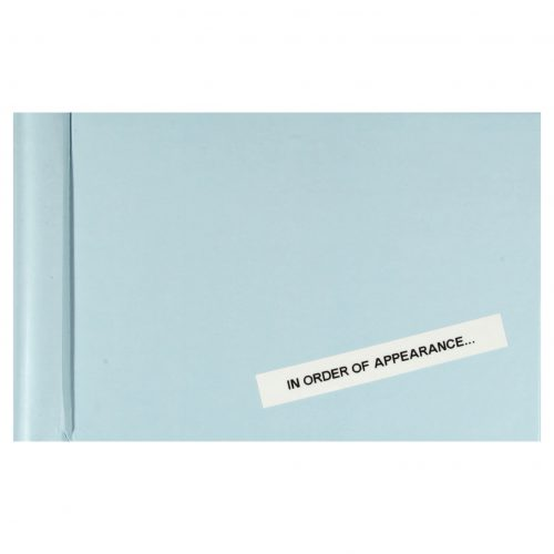 In Order of Appearance - Kalev Erickson