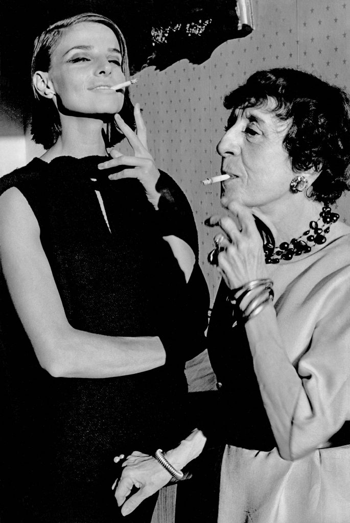 1962, Harper's Bazaar, Paris, Iris Bianchi and the writer Marie-Louise Bousquet
