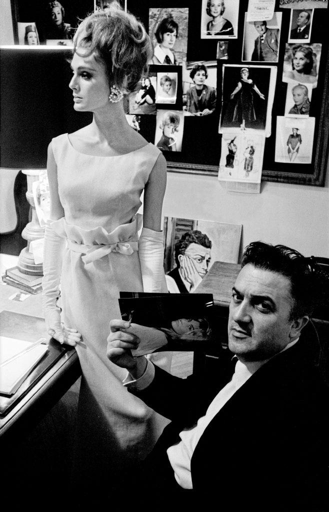 1962, Harper's Bazaar, Rome, Deborah Dixon and Fellini