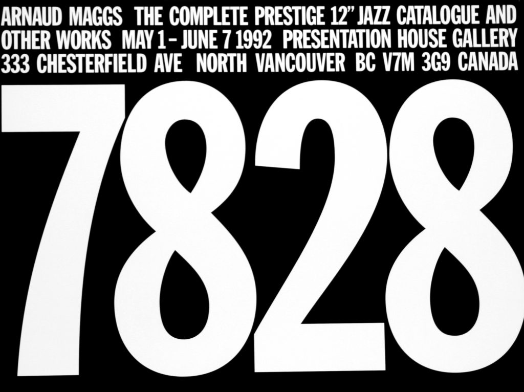 "Poster for the exhibition "" The Complete Prestigue 12"" Jazz Catalogue and Other Works"""