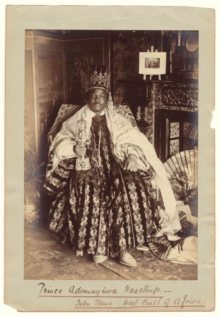 Francis W. Joaque, West African King, c 1890, Albumen print, 16.5 x 22cm, courtesy The Archive of Modern Conflict