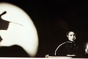 Laurie Anderson, Vancouver debut of United States, 1981. Photo: Cornelia Wyngaarden