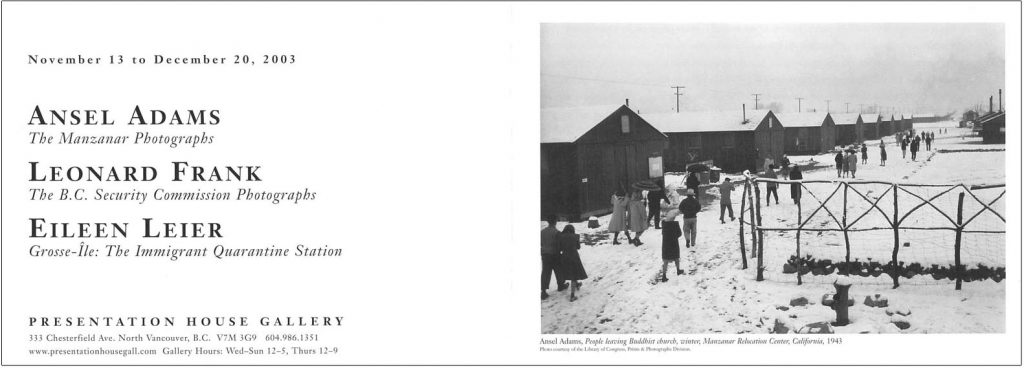 Ansel Adams, Gallery Invitation - front