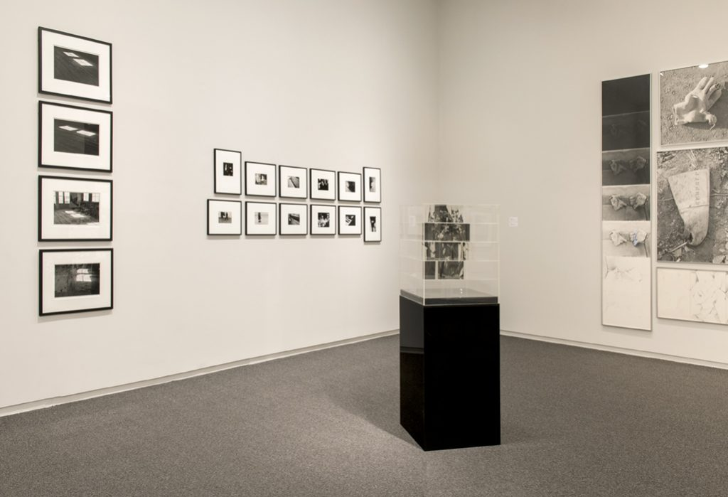 Michael Morris  Studio Light #1, #2, #3, #4, 1970. Timothy Porter, 1969 - 1972. Jack Dale, Cubed Woman #3 a-b, 1970. Roy Kiyooka, Stone(d)Gloves, 1970