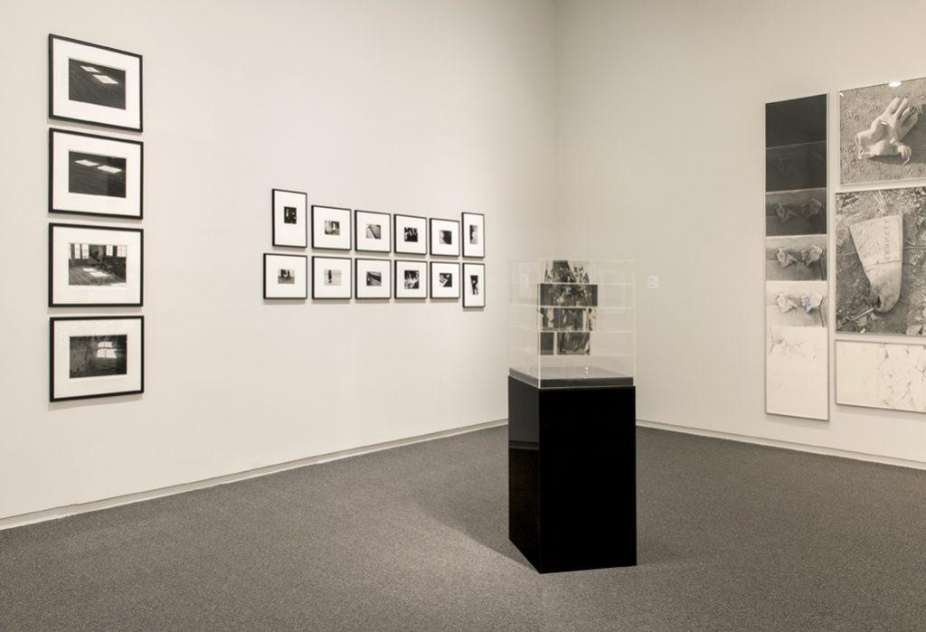 Michael Morris  Studio Light #1, #2, #3, #4, 1970. Timothy Porter, 1969 - 1972. Jack Dale, Cubed Woman #3 a-b, 1970. Roy Kiyooka, Stone(d)Gloves, 1970