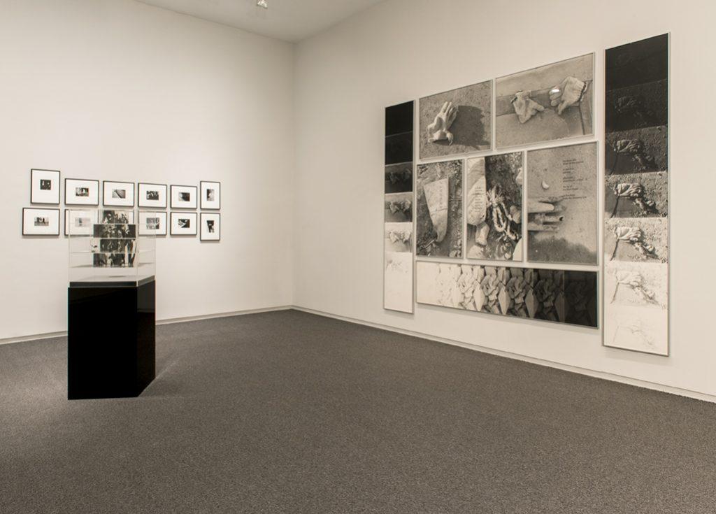 Timothy Porter, 1969 - 1972. Jack Dale, Cubed Woman #3 a-b, 1970. Roy Kiyooka, Stone(d)Gloves, 1970
