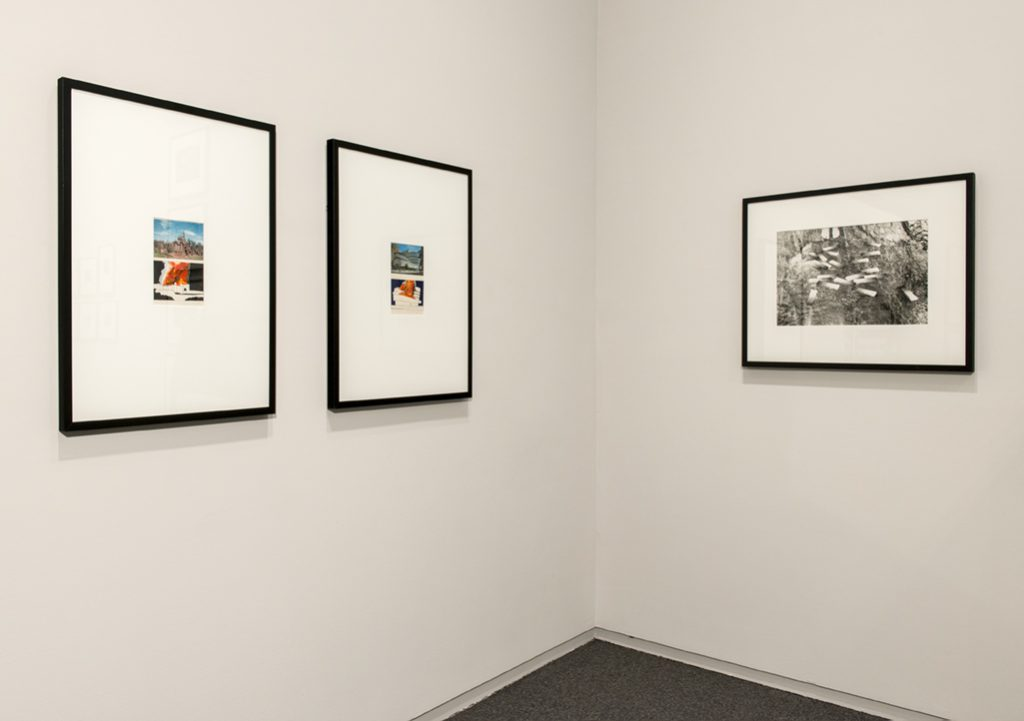 Vincent Trasov, Disneyland Burning, 1970 and Guggenheim on Fire, 1970. Image Bank (Michael Morris and Vincent Trasov), Colour Bar Research – Colour Bars in Stream, 1973