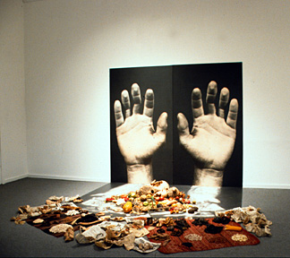 Ron Benner, All That Has Value, installation detail, 1996