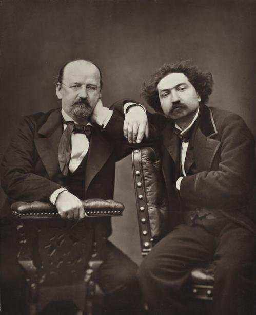 Pierre Petit, Emile Erckmann and Alexandre Chatrain, c.1884, woodburytype, 23.5 x 19.9 cm