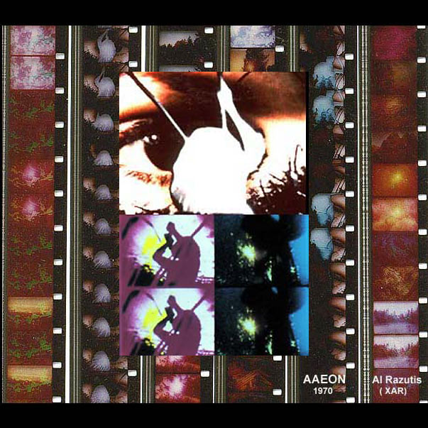 DIM screening:  Al Razutis, Aaeon, 1970, collage of film frames, courtesy the artist
