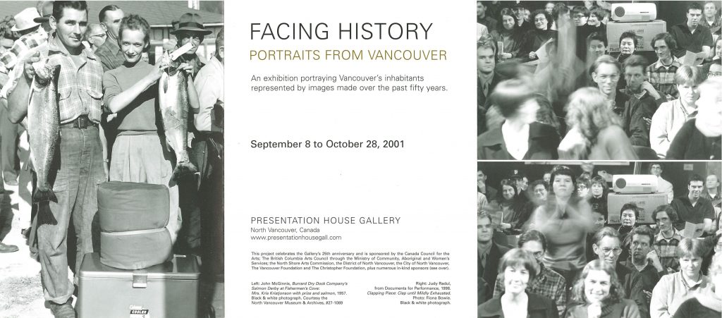 Facing History, Gallery Invitation - front