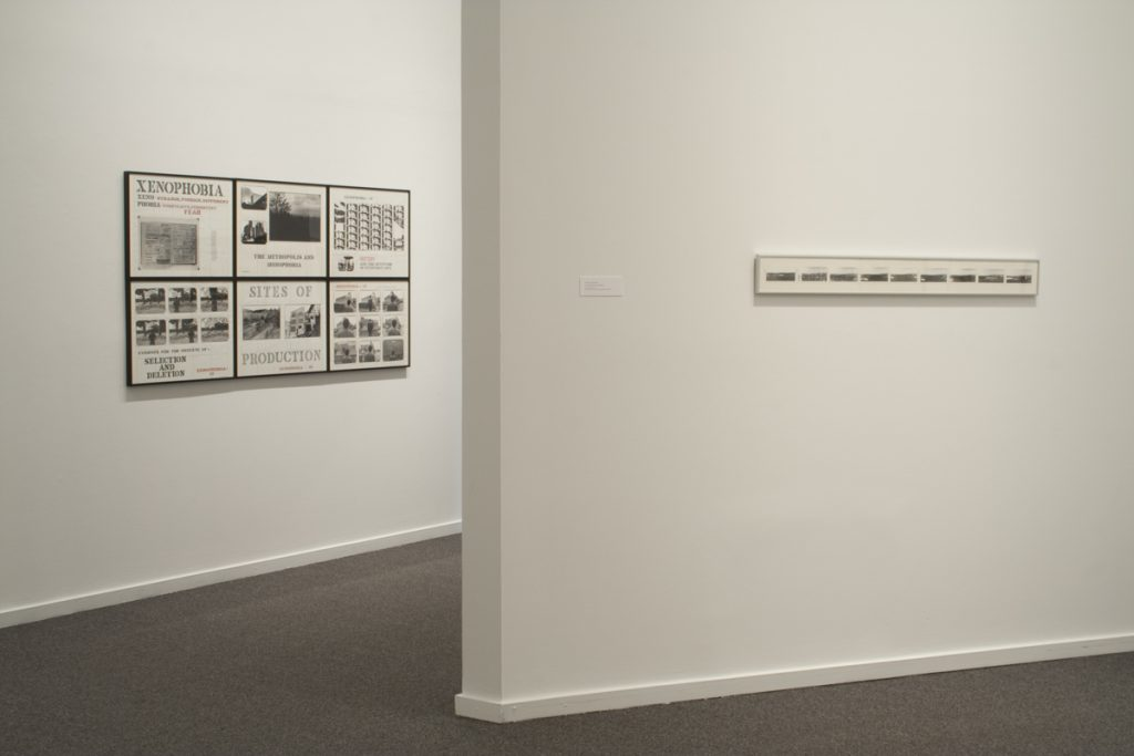 (l to r) Don Gill, Xenophobia series, 1980-1985 and Christos Dikeakos, False Creek Panoramas, 1983/4