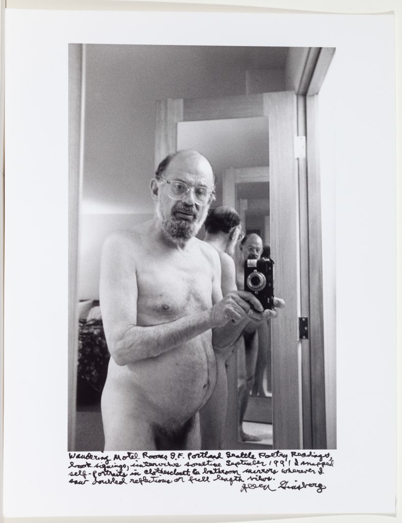 Allen Ginsberg nude self-portrait, Portland Seattle, 1991