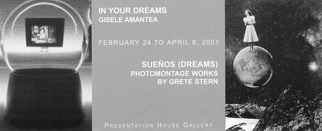 Dreams, Gallery Invitation - front