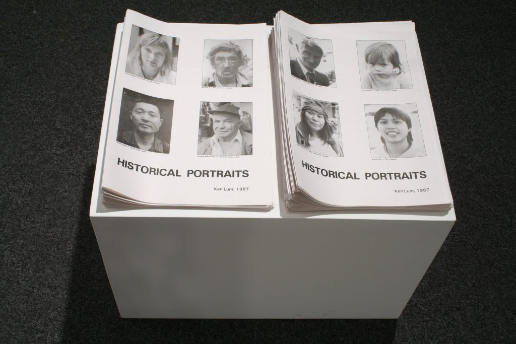 Ken Lum, Historical Portraits, 1987, 2 newsprint sheets
