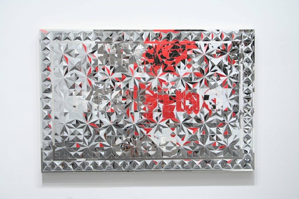 Resist Resisting God, 2009, mirror mosaic, 150 x 100 cm, courtesy collection of Maria Baibakova, New York