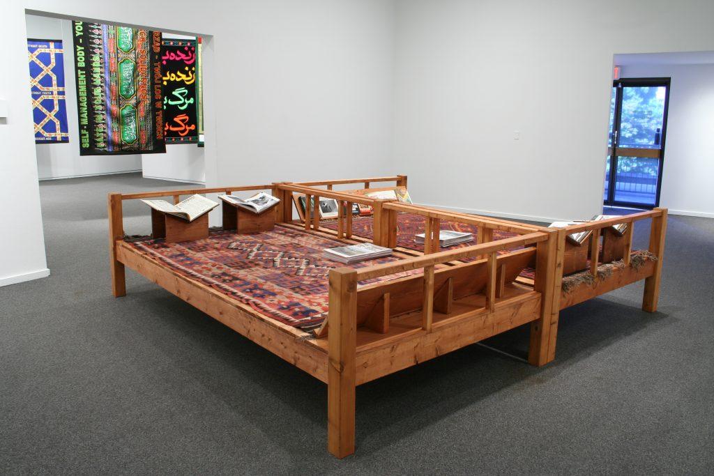 Dear 1979, Meet 1989, 2011, wood, carpets, book archive, variable dimensions