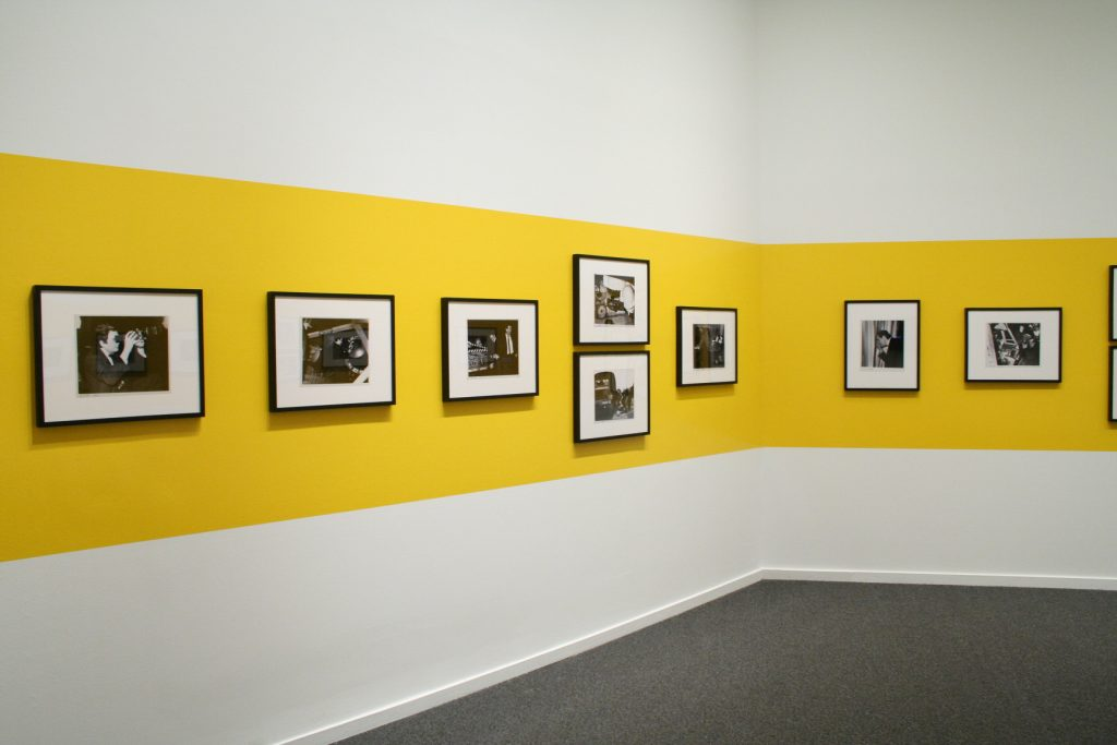 Installation view of Strangelove's Weegee
