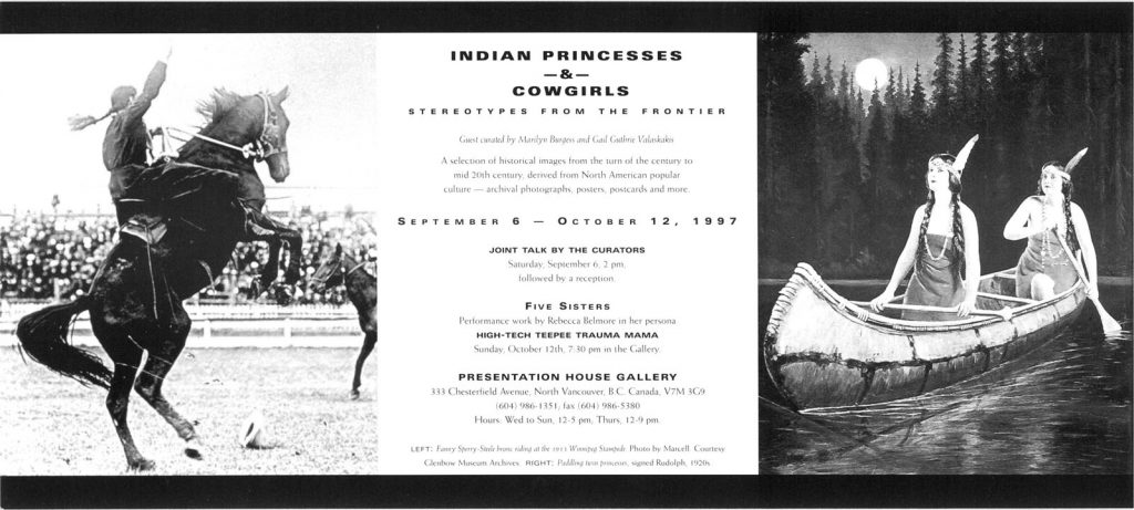 indian princesses and cowgirls, Gallery Invitation
