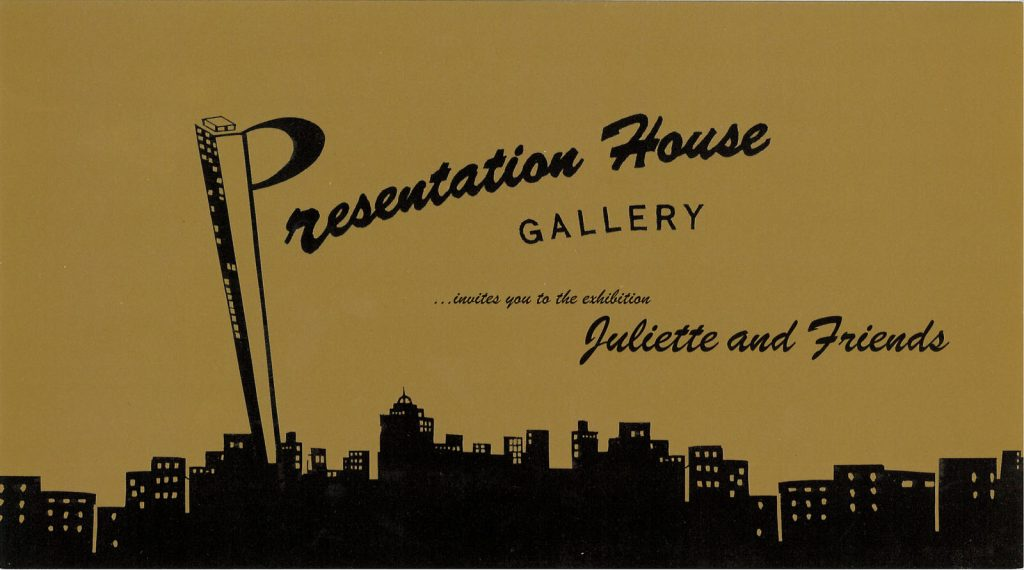Juliette and friends, Gallery Invitation - back