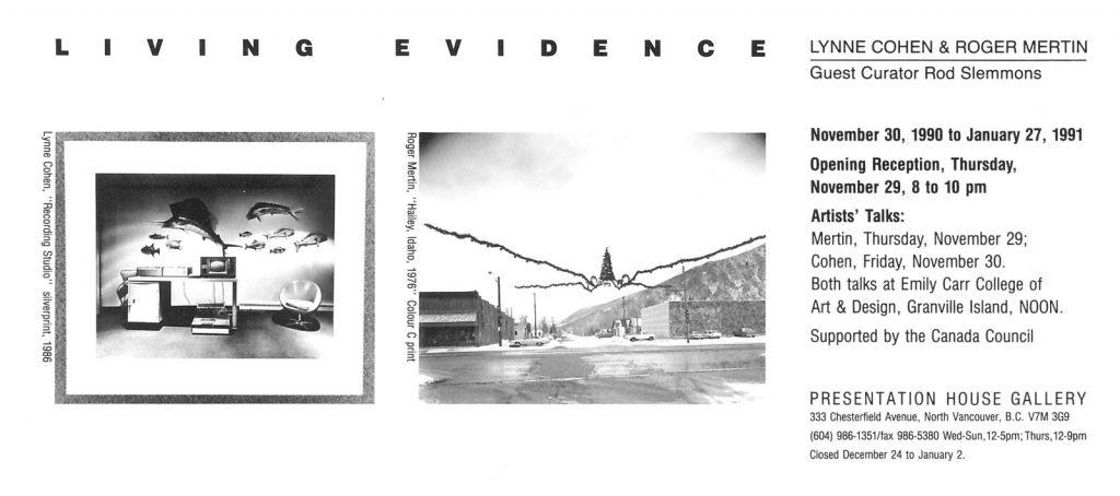 living evidence, Gallery Invitation