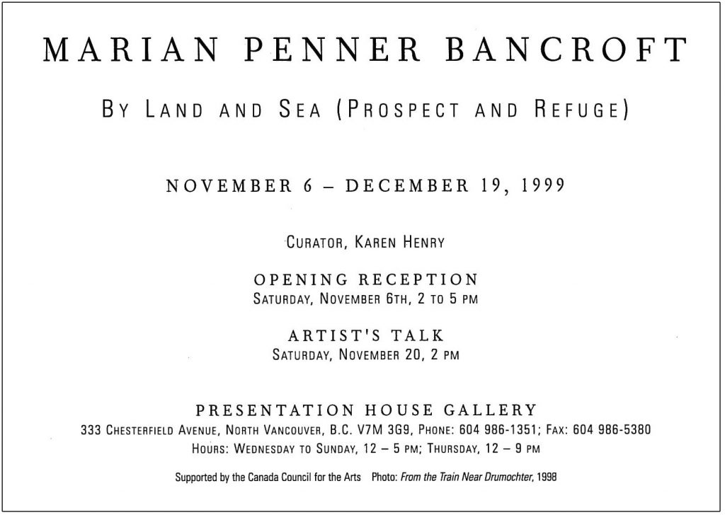 By land and sea, Gallery Invitation - back