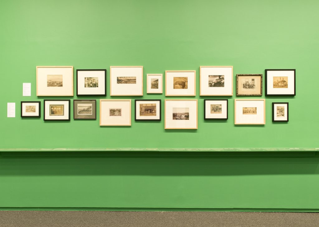 Installation image, 'NANITCH: Early Photographs of British Columbia from the Langmann Collection', courtesy of SITE Photography