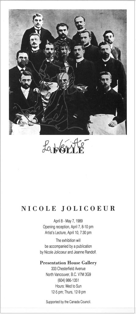 Nicole Jolicoeur, Gallery Invitation
