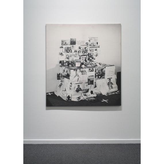 Anna Oppermann, Einzelleinwand (Ahornensemble), 1977, hand-coloured photo emulsion on canvas, Courtesy Estate of Anna Oppermann and Galerie Barbara Thumm, Berlin