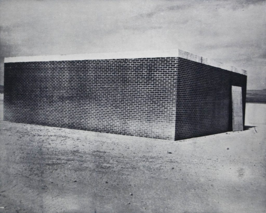 Andrea Pinheiro, Test structure for a future without windows, 2009, photogravure, Courtesy the artist. Original photo courtesy National Nuclear Security Administration/Nevada Site Office