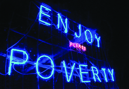 "Renzo Martens, still from ""Episode III: Enjoy Poverty"", 2009, film, 90 min."