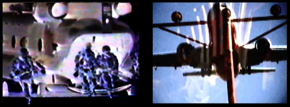 Carolee Schneemann, DEVOUR, 2003, dual channel video stills