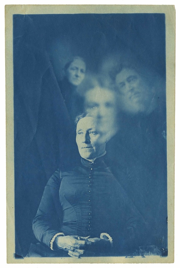 Frank Coster, Spirit Photograph, c1890, Cyanotype, 14.5 x 20.5cm, courtesy The Archive of Modern Conflict
