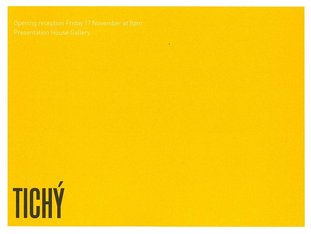 Tichy, Gallery invitation - inside