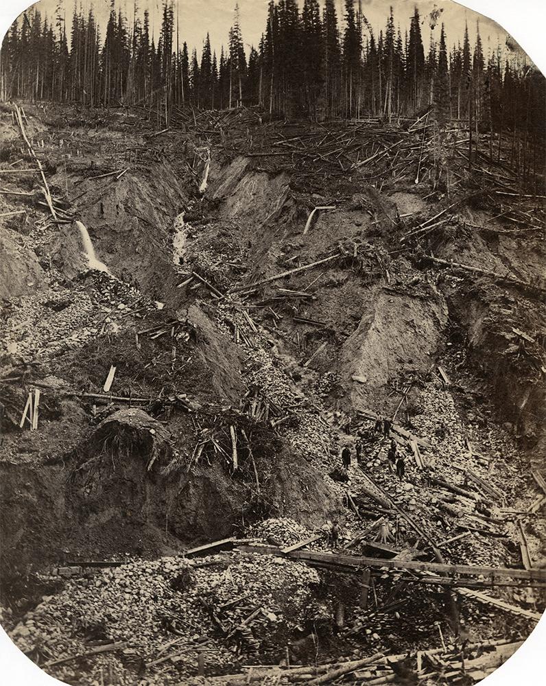 "Carlo Gentile, ""Stouts Gulch near Barkerville,"" c.1865, albumen print (1019)"