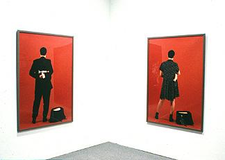 Jin-me Yoon, Intersection, life-size colour photographs, 1995 Photos taken by Susan Stewart