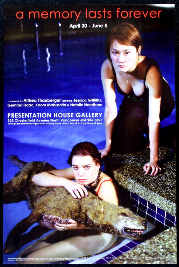 """Poster for the exhibition """"A Memory Lasts Forever"""""""