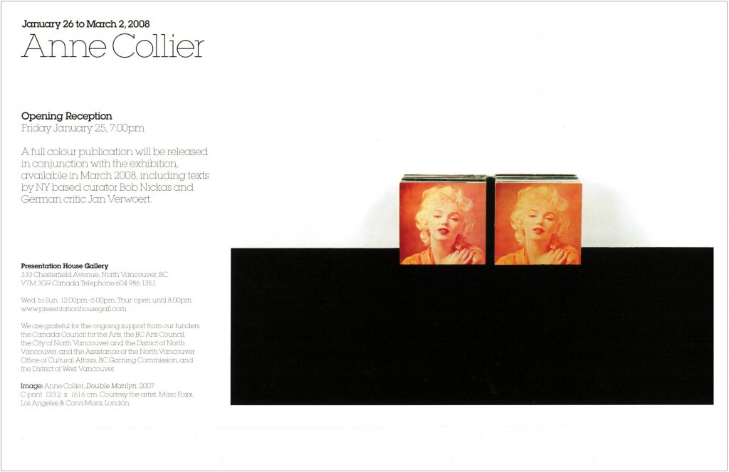 Anne Collier, Gallery Invitation