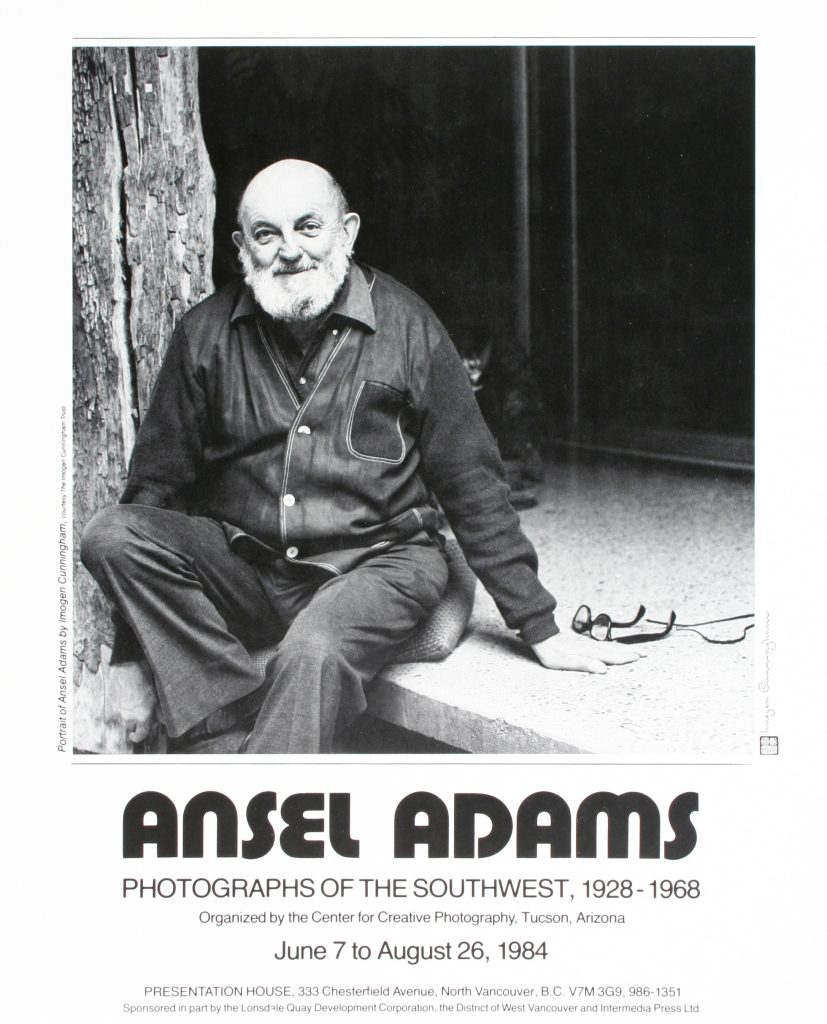 "Poster for the exhibition ""Ansel Adams: Photographs of the Southwest, 1928-1968"""