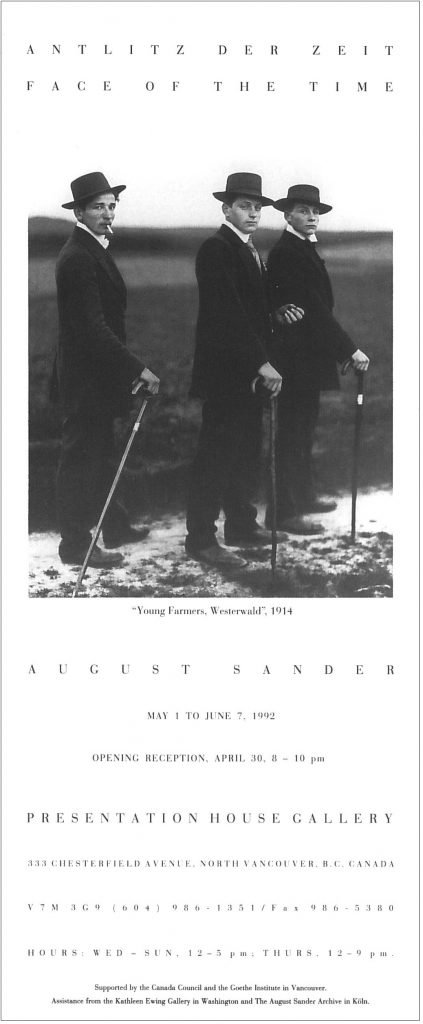 August Sander, Gallery Invitation