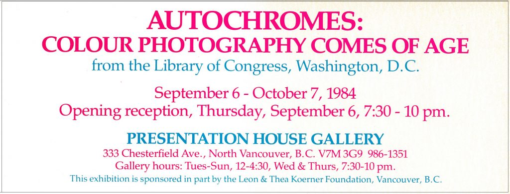 autochromes, Gallery Invitation