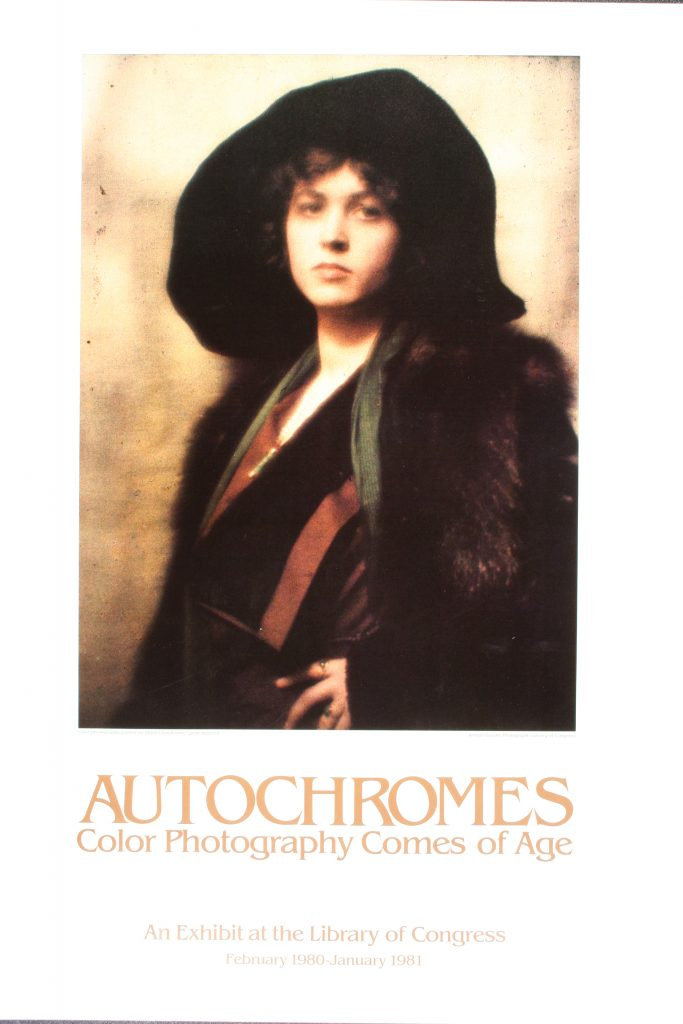 "Poster for the exhibition ""Autochromes: Colour Photography Comes of Age"""