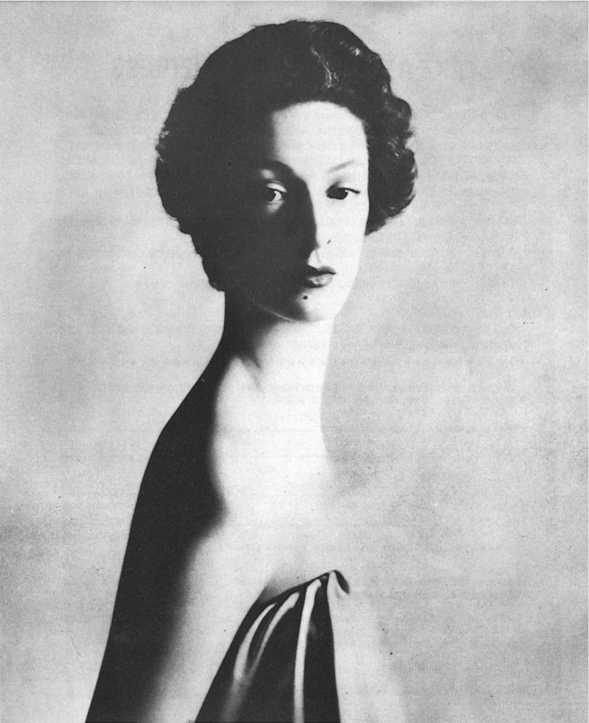 Portrait of Fiat Heiress, Marella Agnelli, chosen by the Metropolitan Museum, New York, as the catalogue cover for the exhibition