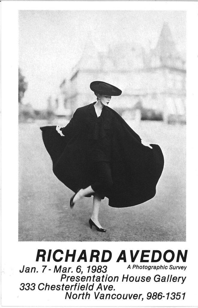 Richard Avedon, Gallery Invitation #1