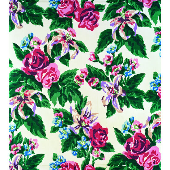 Big Print ♯4 ( Fazenda Lily – White Background  –	Cotton Fall 1947 Design Dorothy Draper,  Courtesy Schumacher & Co), 2007, C-print,