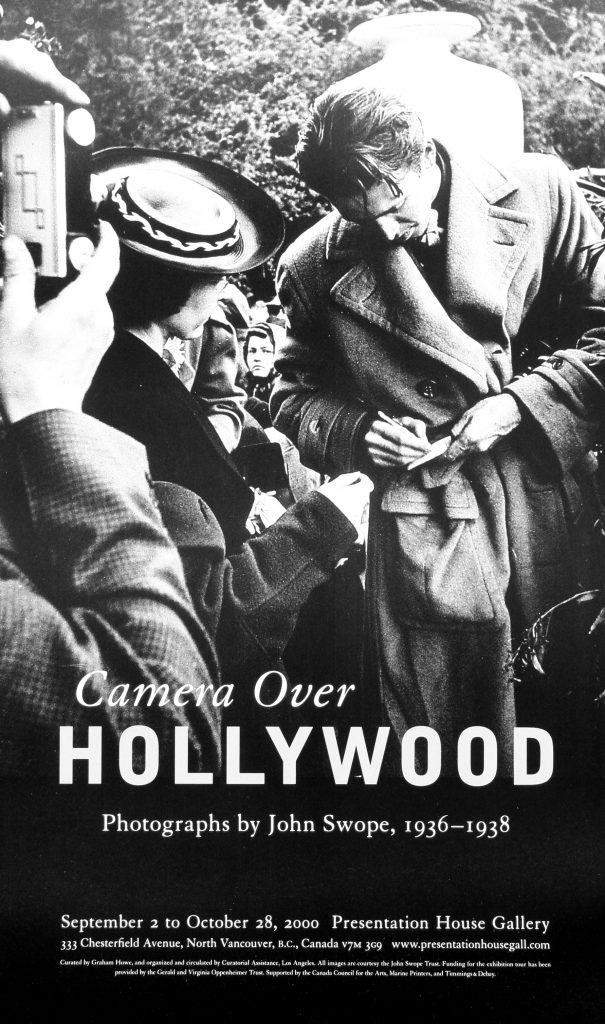 "Poster for the exhibition ""Camera over Hollywood"""