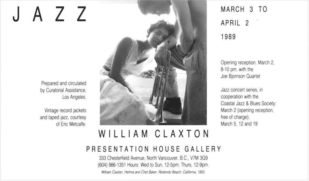 Claxton, Jazz, Gallery Invitation