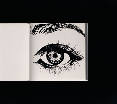 Anne Collier, Eye (Hot Foil Stamping), 2007 C-Print. 127 x 141.732 cm  Courtesy the artist, Marc Foxx, Los Angeles, Corvi-Mora, London & Anton Kern Gallery, New York.